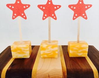 15 Starfish Food Picks - Appetizer Picks - Under the Sea - Nautical - Beach - Ocean - Birthday Party - Mermaid Party - Baby Shower
