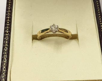 18ct Yellow Gold Solitaire Diamond Engagement Ring