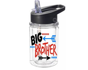 Big Brother Gifts - Children Personalized Water Bottle - Tritan Water Bottle - Boys Birthday Gifts - Boy Gifts - Kids Personalized Gifts