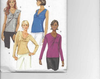 Butterick B5283 Twisted Front Tops pattern  Sizes 6-8-10-12  OOP Uncut