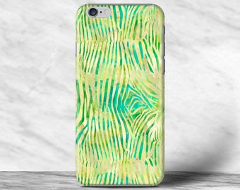 Green Fun Zebra Print Pattern Art Case For iPhone 4s 5 5s SE 6 6s 7 7s Plus Samsung Galaxy S4 S5 S6 S7 Edge Note 2 3 4 5 Xperia Z Z1 Z2 Z4