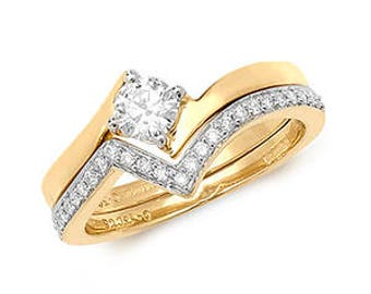 Diamond Wedding Ring Set RD175B DIAMOND CROSSOVER SET