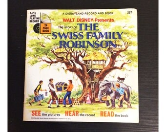 1971 Swiss Family Robinson Read Along Book and Record