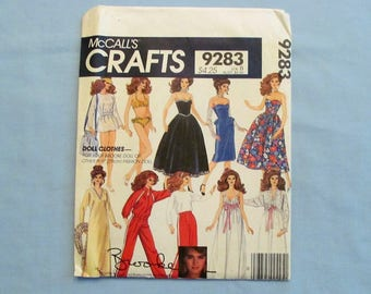 Sewing Pattern, McCall's Crafts #9283, Brooke Shields Doll Clothes, Uncut, 1984