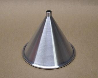 Aluminum Funnel Seamless Hand Spun, Small Size, Handmade, New, Metal Spinning,