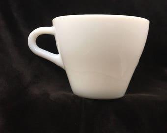 Anchor Hocking 907, Vintage Milk Glass Tea Cup, Vintage Milk Glass Mug, Vintage Anchor Hocking