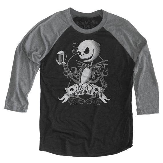 Halloween Shirt! Nightmare Before Christmas Shirt - Jack Skellington Shirt - Jack Skellington Drinking a Pumpkin Ale Unisex Beer Shirt