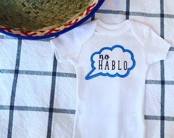 No Hablo Bodysuit/Funny Baby Bodysuit