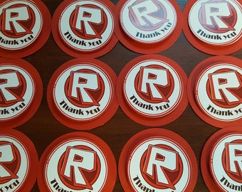 Roblox Party-24 Roblox cupcake toppers-Roblox girl-Roblox boy-Roblox party decor-Roblox cake toppers-Roblox birthday-Roblox Thank You Cards