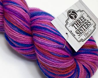 Indie Dyed BFL sock yarn, 420 yards.  Hand dyed for your next knitting, crochet or weaving project