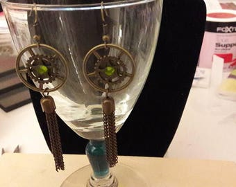 Pair of earrings, steampunk #2