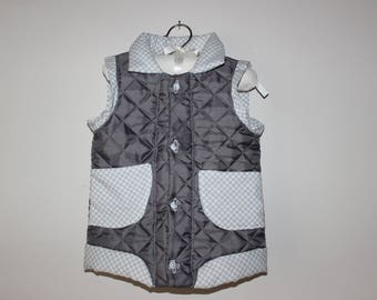 Quilted boys vest