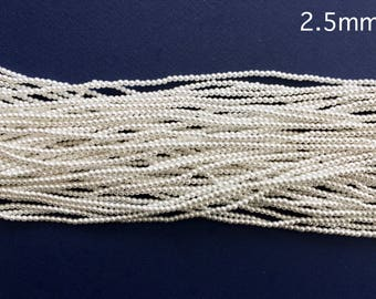 2.5mm High Quality Imitation Japanese Pearls - white or ivory