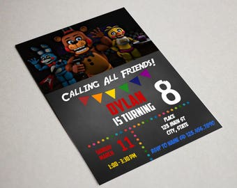 Five Nights at Freddy's Invitation // Printable