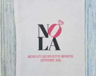5 Bachelorette Party Favor, Hangover Kit, Survival Kit Favor Bags - Bachelorette New Orleans NOLA Recovery Kit, Custom