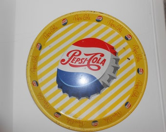 50's metal plate by Pepsi.