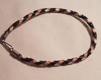 Handcrafted kangaroo leather wristband