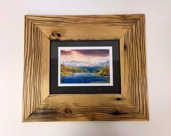 Barnwood picture frame reclaimed wood handmade