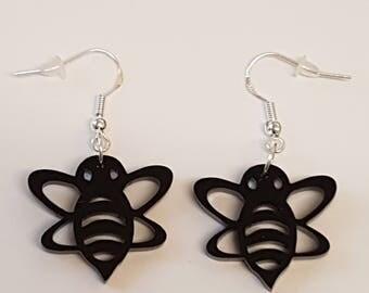 Bumble Bee Earrings - Acrylic