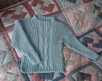Hand Knit Girls Cotton Jumper