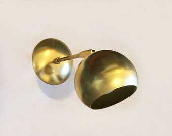 Brass Eyeball Sconce - Marylou - Hard-wired Mid-century Modern brass wall sconce
