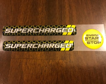 2015-present Charger Supercharged interior badges in yellow