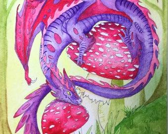 Little Poison Dragon Watercolor
