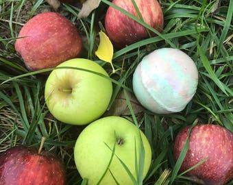 Caramel Apple Bath Bomb -Large- Sample - Fall -Fall Scents -bath fizzie