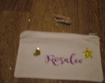 Personalised bag, Make up bag, Christmas gift, Birthday present. Womens gift. Wash bag
