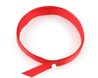 x2m (14A) 10mm Red satin ribbon