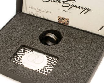 40% OFF On Sale Ring #00140. New Carbon Fibre Ring with Titanium Inlay.