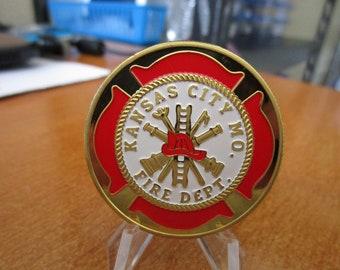 Kansas City Fire Department Patron Saint Saint Florian Challenge Coin #4208