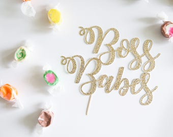 Boss Babes Cake Topper, Women Entrepreneur, Empowerment, Glitter Party Decorations, Female Fellowship, New Job Promotion, Professional Girl