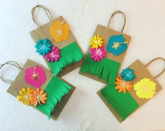 Moana Paper Favor Bags- Moana Birthday Favor Bags-goodie bags- Moanatheme party goodie bags- Luau birthday party
