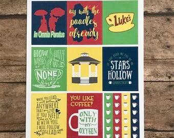 Gilmore Girls Quote Full Box Stickers