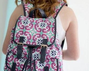 Monogrammed Campus Backpack ~ Monogrammed girls backpack ~ Back to school backpack