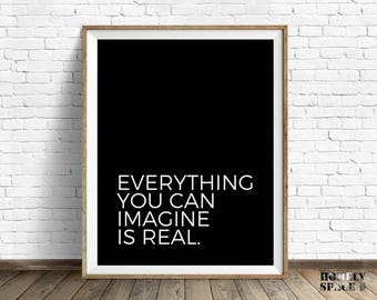 Motivational art phrase Fitness printable Motivational quotes Motivational prints Office art Workspace print Motivating wall You can imagine