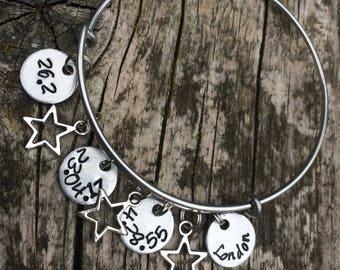 Race distance charm bracelet