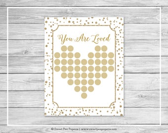 White and Gold Baby Shower Guest Book - Printable Baby Shower Guest Book - White and Gold Confetti Baby Shower - Shower Guest Book - SP149