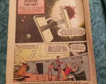 Vintage Estate Comic Book Sold AS IS - No Cover Space Family Robinson Lost in Space Number 22 June 1967 Operation Time Shift Science Fiction