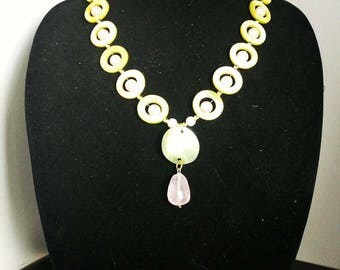 Pink and Green Necklace