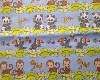 Baby Animals Cotton Fabric by the Yard