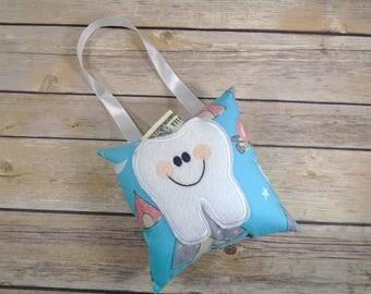 Tooth Fairy Pillow - Tooth Pillow - Kids Pillow - Lost Tooth - Tooth Fairy Gift - Tooth Fairy - Tooth Keeper - Tooth Fairy Pillow Boy