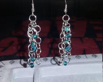 Aqua handmade Earrings