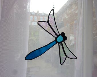Stained Glass   Dragonfly suncatcher, とんぼのサンキャッチャー、
