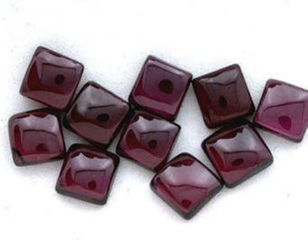 25-P Wholesale Lot Natural Red Garnet square Shape Cabochon for jewelry