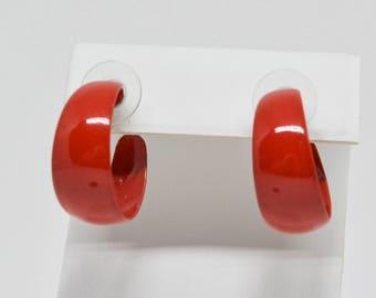 Lovely Red Color plastic Earrings