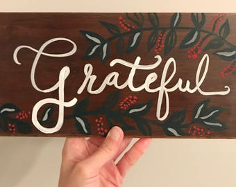 Gather Hand Painted Wood Sign