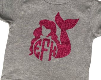 Mermaid Monogram Tshirt