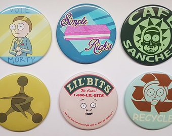 Rick and Morty SEASON 3 UPDATE 2.32in Pinback Buttons